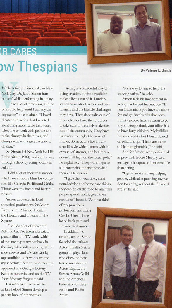 The Georgia Chiropractor Featured Article
